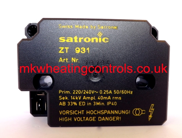 Satronic ZT931 240V IGNITION TRANSFORMER Single Output
